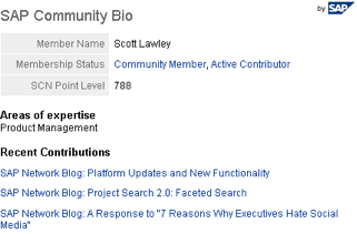 LinkedIn SAP Community bio