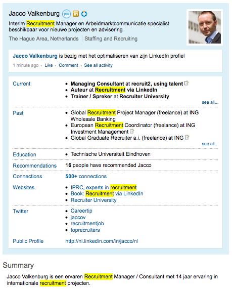 Optimaliseer je LinkedIn profiel voor zoekresultaten