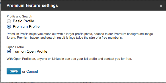 LinkedIn Open Profile