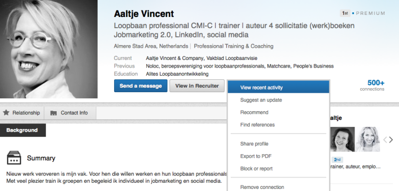 LinkedIn Update activiteiten