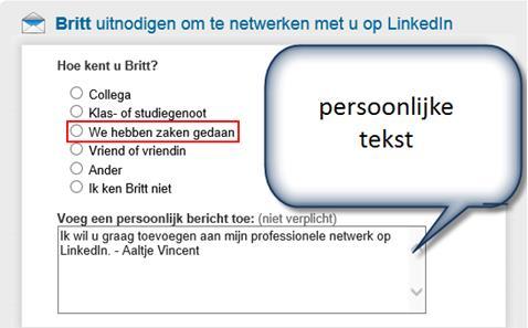 Solliciteren via LinkedIn uitnodiging