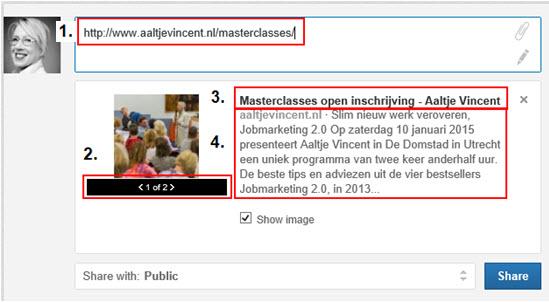 LinkedIn Status Update Aaltje